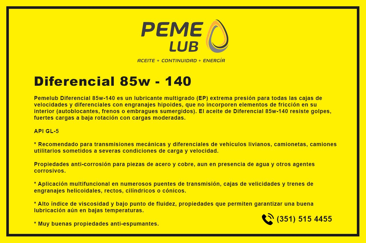 Diferencial 85w - 140